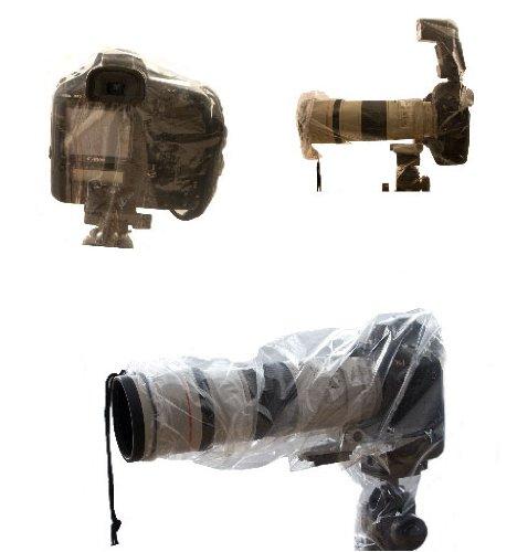 Allwetterschutz / Regencape für alle Spiegelreflexkameras.Set bestehend aus 2 verschiedenen Hauben.