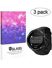 BECEMURU Suunto 9 Baro de Pantalla 9H Pantalla de Cobertura Completa Protector de Cristal Templado para Suunto 9 Baro Smartwatch (Paquete de 3)