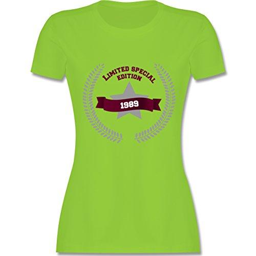 Geburtstag - 1989 Limited Special Edition - tailliertes Premium T-Shirt mit Rundhalsausschnitt für Damen Hellgrün