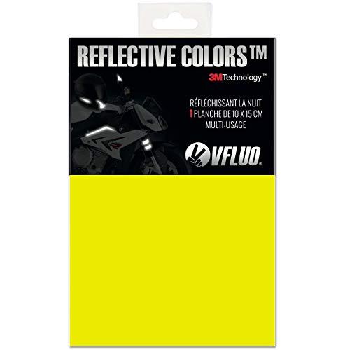VFLUO 3M REFLECTIVE COLORS™, Kit adesivo universale'Fai da te' per Casco/Moto/Motorino/Bicicletta, 3M Technology™, 10 x 15 cm, Giallo