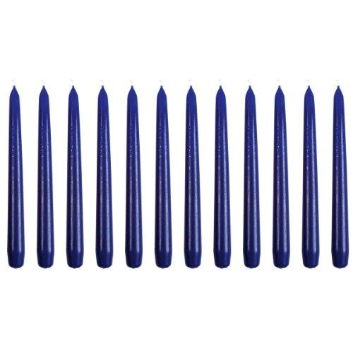 Eika 02102541 Spitzkerze, Tafelkerze, Ø 2,5 x 25 cm, dunkelblau (12er Pack)