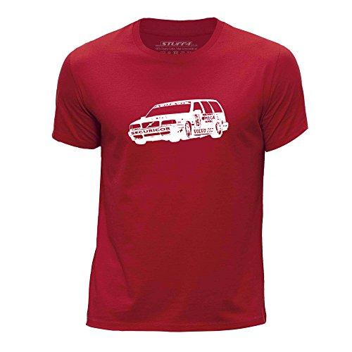 Stuff4 Chicos/Edad de 12-14 (152-164cm)/Rojo/Cuello Redondo de la Camiseta/Plantilla Coche Arte/850 TWR BTCC