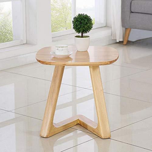 M-JH Table d'appoint, Table d'appoint de Salon | Table Basse carrée rétro adaptée aux Petits espaces | Table d'appoint de Salon en Bois Massif avec canapé (Couleur : B)