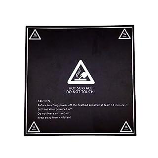 AptoFun Surface de Construction de l'imprimante 3D, 3D Impression de Feuille de lit, Plate-Forme d'impression 3D Feuille de lit chauffante (213 x 213 mm)