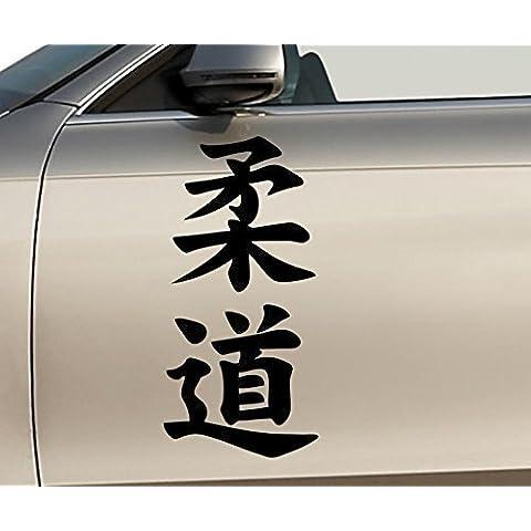 Pegatina para el Coche Judo Jeroglífico Esquelético Hueso Coche Pegatinas Pegatinas 5O290 - Gris plata brillo,