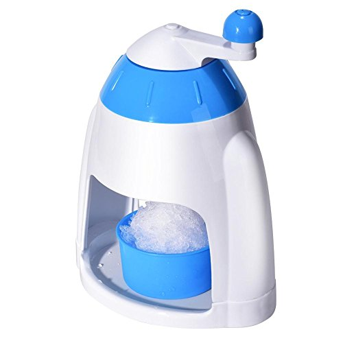 briseur de hielo picadora de hielo manual con bandeja máquina de hielo picado de hielo cóctel de frutas prunch zumo triturador de hielo manivela Manual actionnée para el écrasement rápido