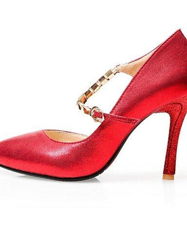 WSS 2016 Chaussures Femme-Mariage / Habillé / Soirée & Evénement-Rouge / Argent / Or-Talon Aiguille-Talons / A Plateau / Escarpin Basique / Bout red-us4-4.5 / eu34 / uk2-2.5 / cn33