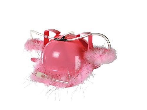 Preis am Stiel Trinkhelm ''Pink Feather'' | Karneval | Fasching | Kopfbedeckung | Kostümzubehör