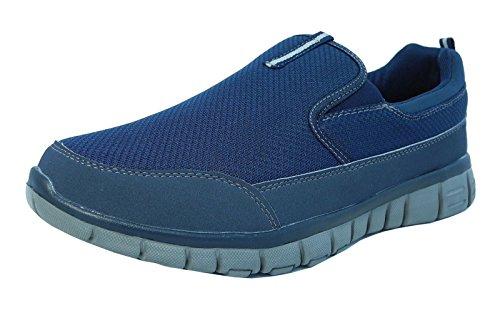 Homme Superlight en mousse visco-élastique Marche Gym Baskets Chaussures avec chaussettes de Skechers Bleu