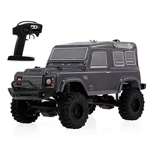 Dilwe RC Modellauto, RGT 1/24 Skala 4WD Fernbedienung Off-Road-Auto 2,4 GHz Radio System RC Crawler Fahrzeug Autos( Dunkelgrau)*