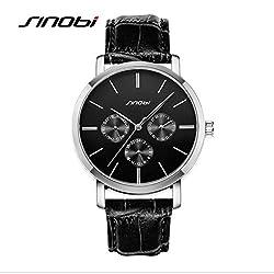 SINOBI Luxury Brand Fashion Quartz Watch Mens Sports Watch