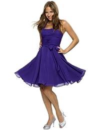 Astrapahl, Neckholder Cocktailkleid, Abendkleid, Festkleid, knielang, Farbe violett