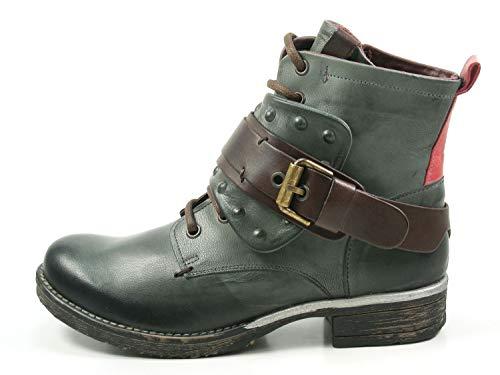 go green Berlin 1-201 Stiefeletten Damen Biker Boots Stiefel, Schuhgröße:39 EU, Farbe:Grün