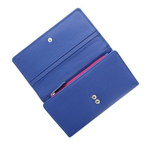 Pelle mala OLLIE Collection borsa / raccoglitore 3137_81 Rosa blu