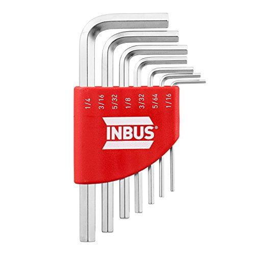 INBUS® 70389 Inbusschlüssel Zoll Set Kurz 7tlg. 1/16-1/4