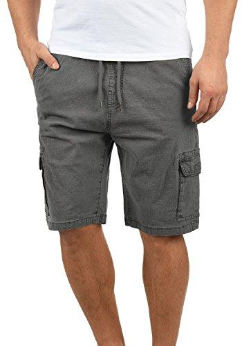 Indicode Frances Herren Cargo Shorts Bermuda Kurze Hose Mit Elastischem Bund Aus Stretch-Material Regular Fit, Größe:S, Farbe:Grey (905)