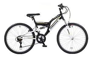 Townsend Commanche Boys Dual Suspension Bike - Black, 24-inch