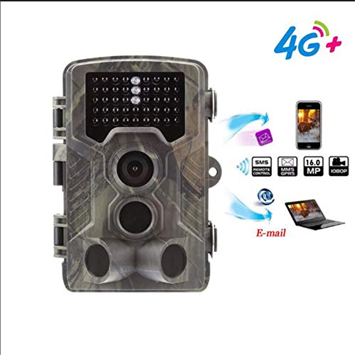 QUARKJK Wildlife Trail Camera 16MP 1080P Infrared Night Vision 22M Motion Activated Wild Hunting Game Cam 120 ° Detection Range 0.3s Trigger Speed IP65 Waterproof for Home Security Surveillance Surveillance Security Cam