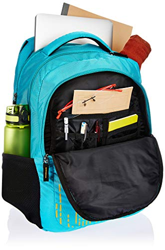 Amazon Brand - Solimo Trellis Laptop Backpack for 15.6-inch Laptops (31 litres,Turquoise) Image 4