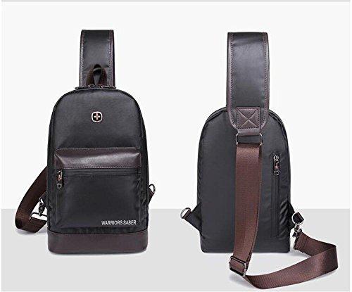 HTRPF Truhe und Bauch Männer und Frauen Messenger Bag Umhängetasche Sporttasche Black