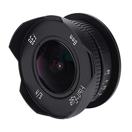 8mm F3,8 Fisheye Kameraobjektiv, HD Ultra Weitwinkel spiegelloses Mount Kamera Objektiv für Micro 4/3 MFT M4 / 3 E-PL7 Full Frame