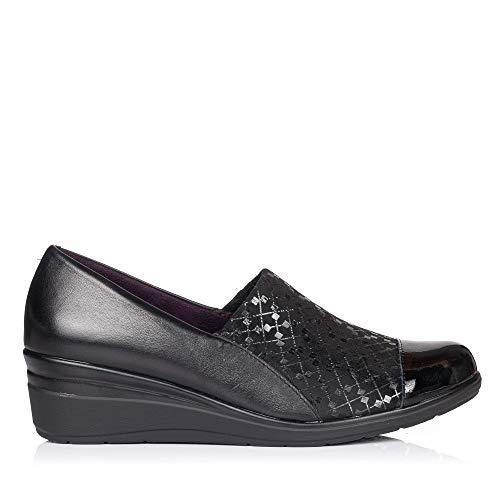 PITILLOS 5721 Zapato Piel CUÑA Mujer Negro 39