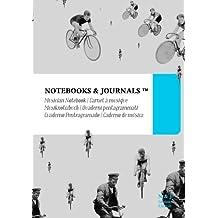 Cuaderno de Música Notebooks & Journals, Bicicletas (Colección Vintage), Extra Large: Tapa Blanda (17.78 x 25.4 cm)(Cuaderno Pentagramado, Libreta Pentagrama, Bloc de Música)