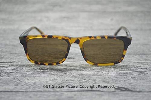 LKVNHP Neue Art UndWeise DerQualitäts -Sonnenbrille Marke Sun Glas Polarisierte Entwerfer-Qualitäts -Speicher Acetat Brillen Rechteck Sonnenbrillen HerrenVs Brown
