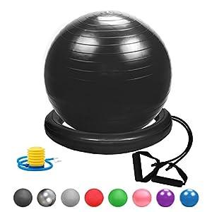 Glamexx24 Weich Gymnastikball Dick Anti-Burst Sitzball Peziball Swissball...