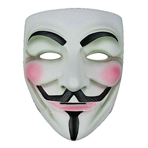 V for Vendetta - Anonymous Mask - Boolavard TM (Bianco Maschera)
