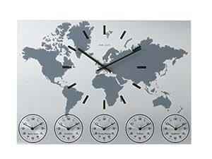 Karlsson ka5069 orologio da muro world time box32 design for Orologio da muro farfalle