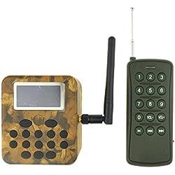 Al aire libre del jugador de la llamada del pájaro pantalla LCD 50W altavoz + control remoto 12V