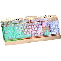 La vera tastiera meccanica Albero Bianco 104 chiave USB Wired partita sospesa luminosa Floating nessun tasto rosso