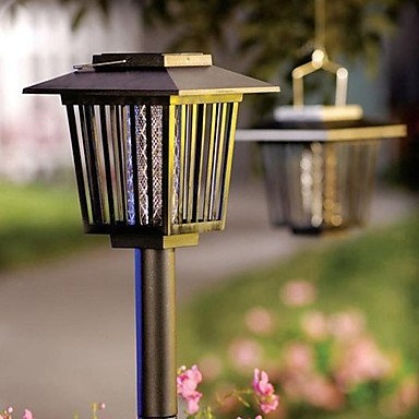JOE/ Solar Powered Mosquito Repellant Bug Zapper Pest Killer Garden Stake (CIS-57218)