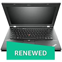 (Renewed) Lenovo Thinkpad L430 14-inch Laptop (2nd Gen Core i5 2520M/4GB/320GB/Windows 10/Integrated Graphics), Black