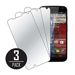 MPERO Collection 3 Pack de Miroir Films de protection écrans pour Motorola Moto X XT1056 / XT1060