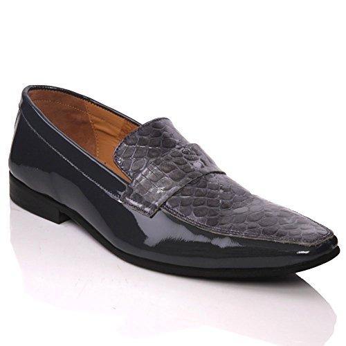 Unze Espagnol Fashion Designer Cuir de Seol ' Nouveaux Mens , chaussures de robe formelle Gris