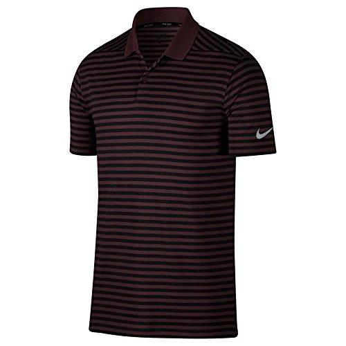 Nike Herren Dry Golf Victory Stripe Polo Shirt, Herren, Burgundy Crush/Black, Medium - Dry Golf Polo