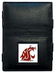 NCAA Washington State Cougars Leather Jacob's Ladder Wallet