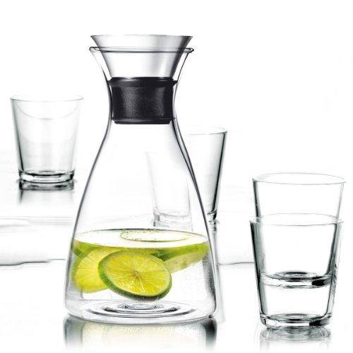 Eva Solo Karaffe 1,0 Liter mit 4 Gläsern, je 250 ml
