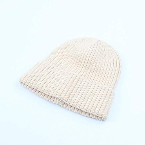 Fpxnbone invernale scaldacollo ragazza bambina autunno,cappello in maglia di lana solida, paraorecchie caldi-beige_m (56-58cm),lavorato a maglia con lavorato a maglia beanie