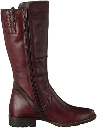 Jana Damen 25602 Stiefel Rot (Bordeaux)