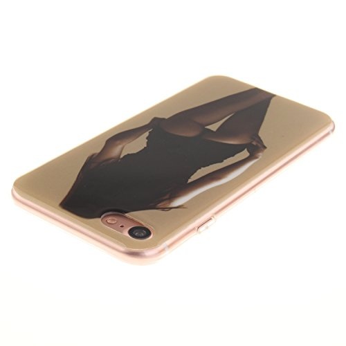 Ooboom® iPhone 8/iPhone 7 Coque TPU Silicone Gel Housse Étui Cover Case Souple Légère Ultra Mince pour iPhone 8/iPhone 7 - Maths Dame Sexy