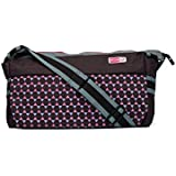Anekaant MomLyf Brown And Pink Printed Polyester Diaper Bag With Changing Mat And Bottle Cover