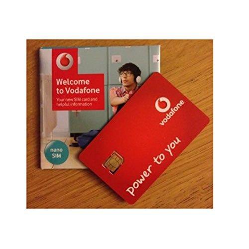 Vodafone Super-schnell 3G/4G 'Nano' SIM-Karte Prepaid Für iPhone 5, 5C,5S,6 6S,6 iPad 3,4,5,Air/Air 2/Galaxy S3,S4,S5,S6 S6-Edge,Registerkarte