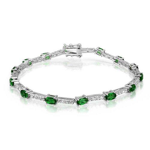 bling-jewelry-de-poca-color-verde-esmeralda-cz-teni-pulsera-plata-esterlina-75-en