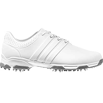 2015 Adidas Tour Traxion TR Lightweight WATERPROOF Mens Golf Shoes-Wide Fitting White 6.5UK