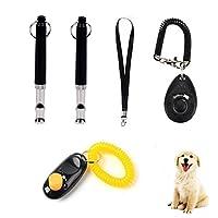 Wondder Ultrasons Chien Sifflet Pet Training Clicker Pitch Réglable avec Sangle de Lanière Pet Dog Fournitures de Formation