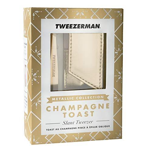 Tweezerman Tweezerman studio collection slant tweezer & pouchchampagne toast 1er pack 1 x 600 g
