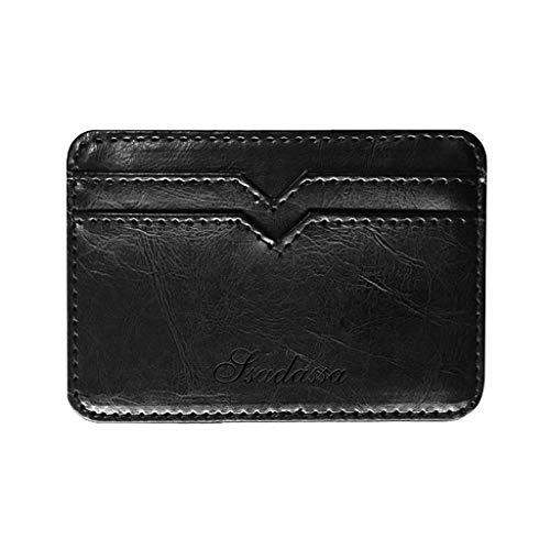 eutel mit Geldklammer Slim Portemonnaie Einfarbig Wallet Retro Männer Geldbörse Geldtasche klein Portmonee Kreditkartenetui Brieftasche Kartenetui für Minimalisten ()